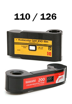 126 and 110 Film Processing By Mail